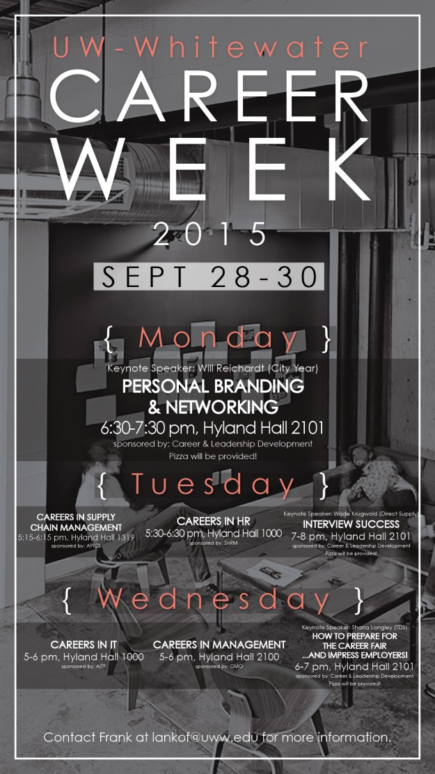 Career Week 2015 Flyer